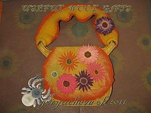 Весенняя сумка «Ромашки-разукрашки»: оформление, ремень, шов-каркас. Ярмарка Мастеров - ручная работа, handmade.