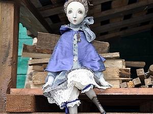 Будуарная  подвижная кукла из паперклея и других самоотвердевающих пластиков   Ярмарка Мастеров - ручная работа, handmade