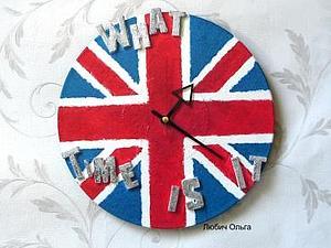 "Часы ""Британский флаг"". Ярмарка Мастеров - ручная работа, handmade."