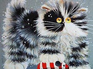 Смешные кошки от английской художницы Kim Haskins   Ярмарка Мастеров - ручная работа, handmade