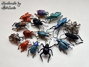 Мастер-класс: жук из запекаемой полимерной глины. Ярмарка Мастеров - ручная работа, handmade.
