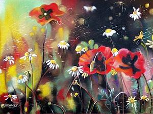 Мастер-класс: рисуем пастелью полевые цветы. Ярмарка Мастеров - ручная работа, handmade.