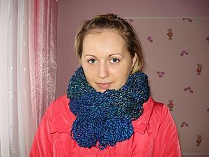 Аукцион на шарф-снуд   Ярмарка Мастеров - ручная работа, handmade