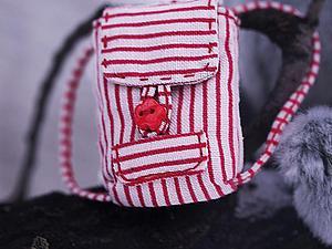 Отправляем мишку в дорогу. Создание мини-рюкзачка для тедди и кукол. Ярмарка Мастеров - ручная работа, handmade.