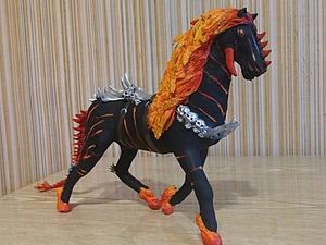 Лепим коня из бархатного пластика. Ярмарка Мастеров - ручная работа, handmade.