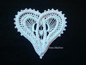 МК: Валентинка в технике румынского кружева | Ярмарка Мастеров - ручная работа, handmade