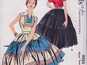 Patio dress в моде 50-х годов | Ярмарка Мастеров - ручная работа, handmade