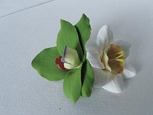 Лепим нарцисс и орхидею.   Ярмарка Мастеров - ручная работа, handmade
