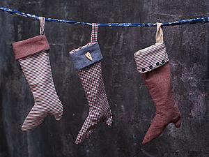 Рождественский носочек   Ярмарка Мастеров - ручная работа, handmade