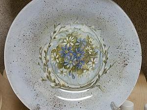«Интерьерная тарелочка» обратный декупаж на стекле, скидка!!! | Ярмарка Мастеров - ручная работа, handmade