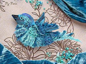 КРАСНОДАР! Шелковая птица-брошь (мастер-класс) | Ярмарка Мастеров - ручная работа, handmade