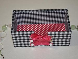 Изготовление коробочки для визиток 'Талия в корсете'