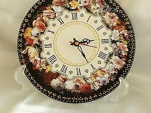 МК Часы из мдф с подрисовкой золотым контуром | Ярмарка Мастеров - ручная работа, handmade