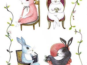 Волшебные кролики   Ярмарка Мастеров - ручная работа, handmade