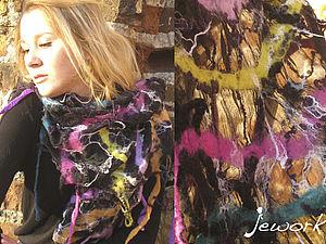 Нуновойлок,  шарф на шелке. | Ярмарка Мастеров - ручная работа, handmade