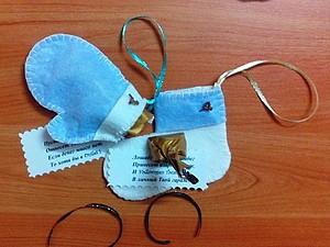 МК волшебные носочки- рукавички с предсказанием. 7 шагов за 30 минут | Ярмарка Мастеров - ручная работа, handmade