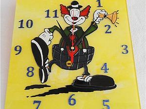 """Создаем часы """"Веселый клоун"""". Ярмарка Мастеров - ручная работа, handmade."""