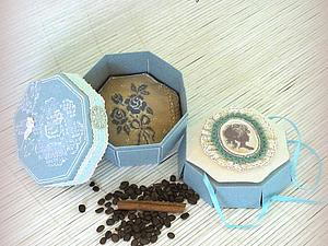 Мастер-класс: восьмигранная коробочка с двойным дном | Ярмарка Мастеров - ручная работа, handmade