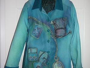 Роспись и сборка пиджака из дикого шёлка