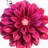 6 комментариев. полимерная глина. цветы. сережки. астра