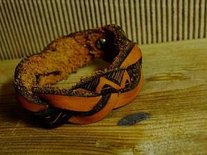 Создание плетеного браслета из натуральной кожи. Ярмарка Мастеров - ручная работа, handmade.