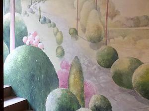 Делаем 3D-роспись стены «Прогулки в самшитовом саду». Ярмарка Мастеров - ручная работа, handmade.