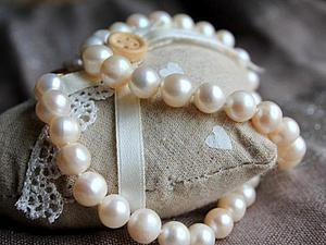 Жемчужное ожерелье из отборного жемчуга по супер цене! | Ярмарка Мастеров - ручная работа, handmade