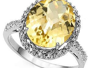 Аукцион! 3 лота серебряных колец с бриллиантами! | Ярмарка Мастеров - ручная работа, handmade