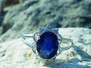 Аукцион! Кольцо с великолепным сапфиром! ЗАКОНЧЕН! | Ярмарка Мастеров - ручная работа, handmade