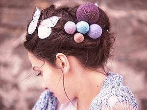 Вязальщицам на заметку: декоративные шпильки для волос | Ярмарка Мастеров - ручная работа, handmade
