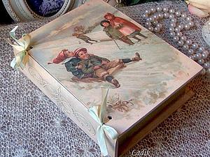 Книга- шкатулка с объемным декором