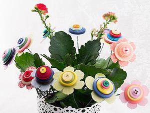 Цветы из пуговиц - Сюжет к 8 марта на НТВ с моим участием. | Ярмарка Мастеров - ручная работа, handmade