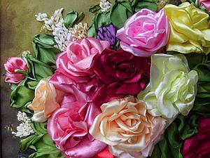 Создаем реалистичную розу из лент. Ярмарка Мастеров - ручная работа, handmade.