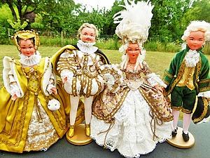 Винтажные куколки марки Petitcolin в красивых нарядах эпохи Луи 14 уже в магазине   Ярмарка Мастеров - ручная работа, handmade