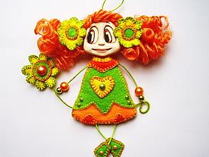 МК Кукла-брошка. | Ярмарка Мастеров - ручная работа, handmade