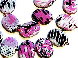 Серьги и бусины из полимерной глины — техника Мокуме Гане | Ярмарка Мастеров - ручная работа, handmade