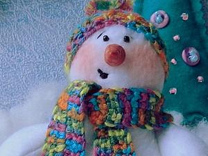 Помощник деда Мороза - Снеговик | Ярмарка Мастеров - ручная работа, handmade