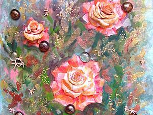 Объемная картина «Розы морских глубин..»)) | Ярмарка Мастеров - ручная работа, handmade