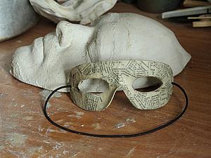 Гипсовая маска лица. Снятие гипсовой маски с лица для изготовления маски из папье-маше. | Ярмарка Мастеров - ручная работа, handmade