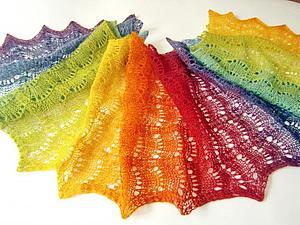 Закрыт! Аукцион с 1 рубля! Радужный шарфик | Ярмарка Мастеров - ручная работа, handmade