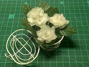 МК по изготовлению цветка с тычинками из кальки, handmade