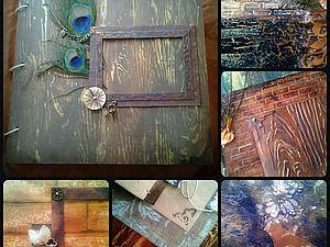 Мастер-класс по созданию текстурного альбома | Ярмарка Мастеров - ручная работа, handmade