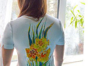 Расписываем блузку в технике холодный батик. Ярмарка Мастеров - ручная работа, handmade.