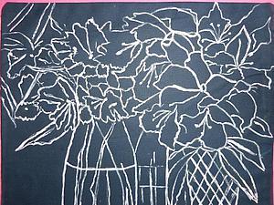 Рисуем розовые цветы в вазах. Часть 1. Ярмарка Мастеров - ручная работа, handmade.