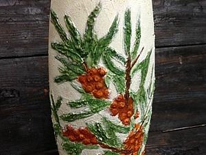 Роспись вазы в технике объемной живописи - новое слово в декоре! | Ярмарка Мастеров - ручная работа, handmade