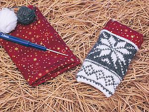 Делаем симпатичный чехольчик с вязаными норвежскими мотивами. Ярмарка Мастеров - ручная работа, handmade.