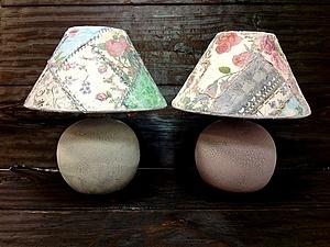 Декупажный пэчворк - имитируем лоскутное шитье! Делаем уникальную лампу или зеркало! | Ярмарка Мастеров - ручная работа, handmade