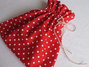Делаем текстильный мешочек для подарков. Ярмарка Мастеров - ручная работа, handmade.