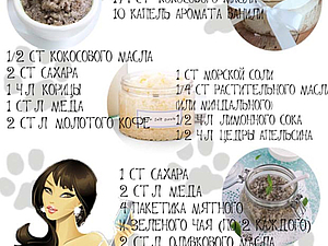 Рецепты полезных скрабов | Ярмарка Мастеров - ручная работа, handmade