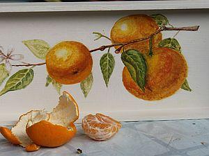Курс росписи мебели. Апельсины. | Ярмарка Мастеров - ручная работа, handmade